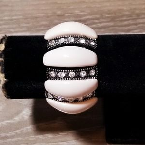 LUCKY brand marcasite mother of pearl bracelet